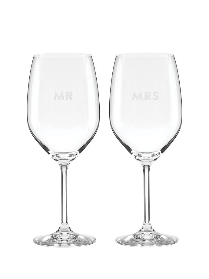 Mr & Mrs. Wine Glass Set