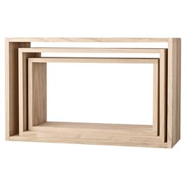 Natural Wood Box Display, Home Accessories, Laura of Pembroke