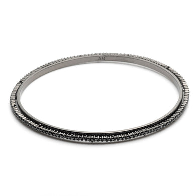 Noir Dust Skinny Tapered Bangle Bracelet