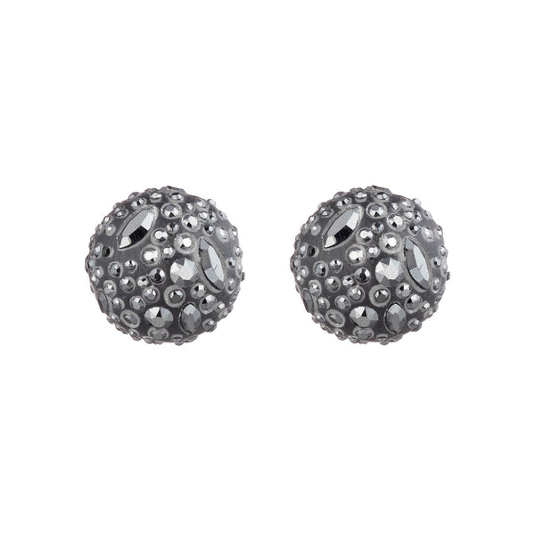 Noir Dust Watery Sphere Post Earrings