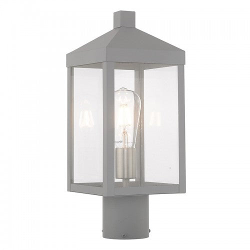 Nyack 1 Light Nordic Gray Post Top Lantern, Lighting, Laura of Pembroke