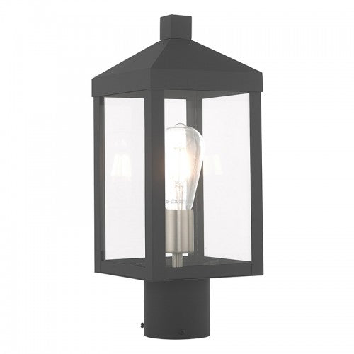 Nyack 1 Light Scandinavian Gray Post Top Lantern, Lighting, Laura of Pembroke