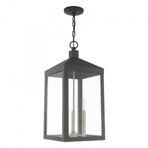 Nyack 3 Light Scandinavian Gray Pendant Lantern, Lighting, Laura of Pembroke