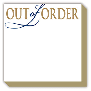 OUT OF ORDER LUXE NOTEPAD