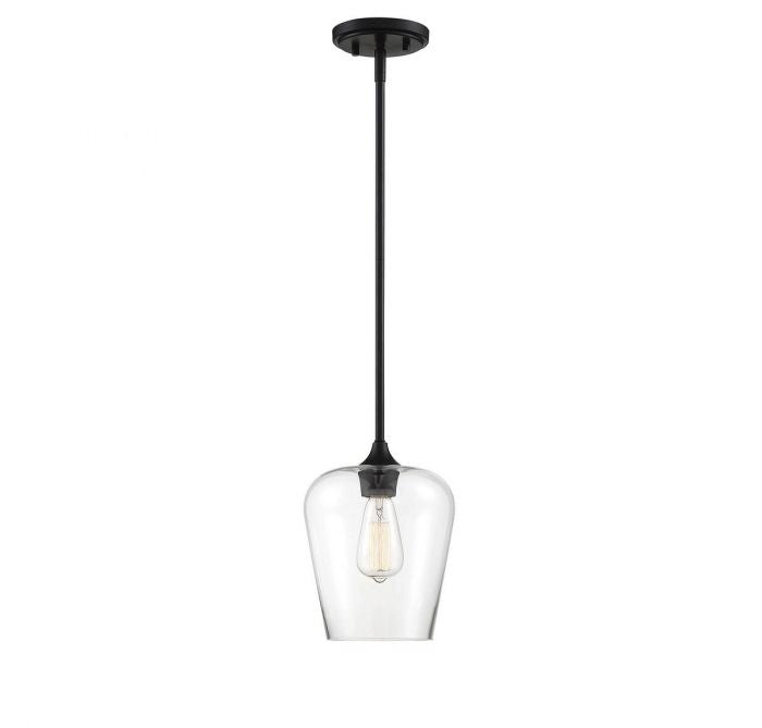 Octave Black 1 Light Black Mini Pendant