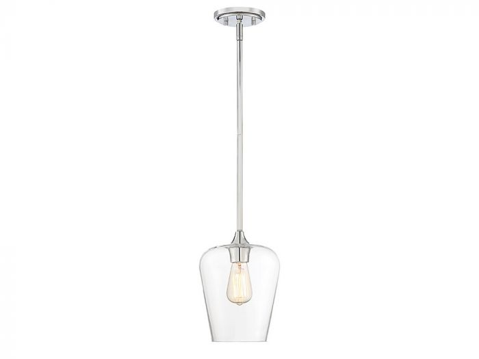 Octave Polished Chrome 1 Light Pendant