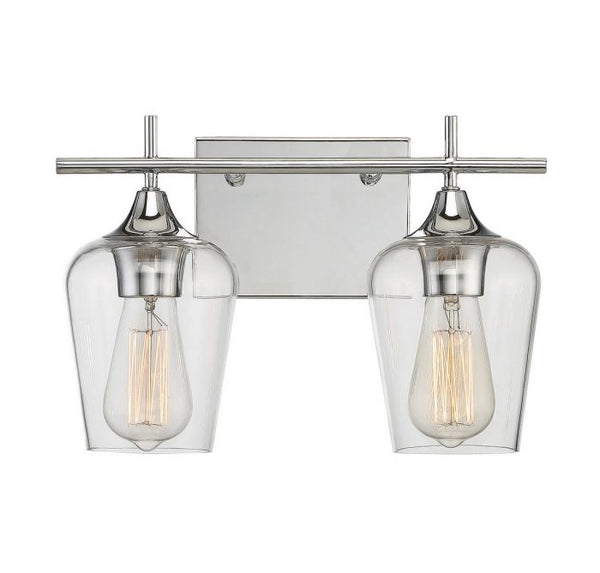Octave Polished Chrome 2 Light Bath Bar