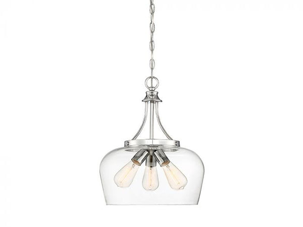 Octave Polished Chrome 3 Light Pendant