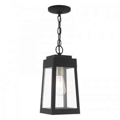 Oslo 1 Light Black Pendant Lantern, Lighting, Laura of Pembroke