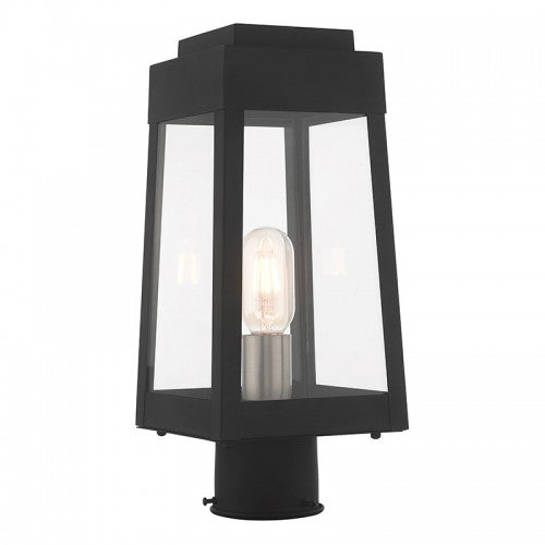 Oslo 1 Light Black Post Top Lantern, Lighting, Laura of Pembroke
