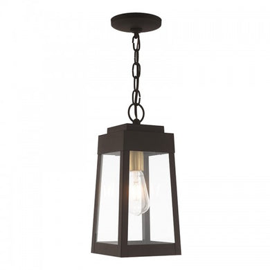 Oslo 1 Light Bronze Pendant Lantern, Lighting, Laura of Pembroke
