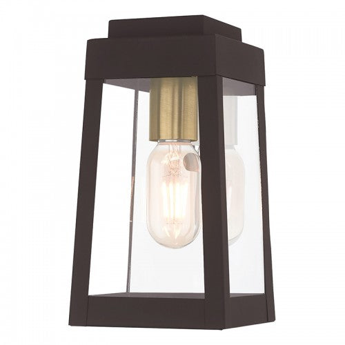 Oslo 1 Light Bronze Wall Lantern, Lighting, Laura of Pembroke