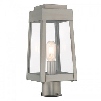 Oslo 1 Light Brushed Nickel Post Top Lantern, Lighting, Laura of Pembroke