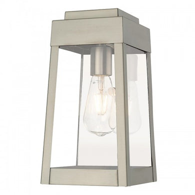 Oslo 1 Light Brushed Nickel Wall Lantern, Lighting, Laura of Pembroke