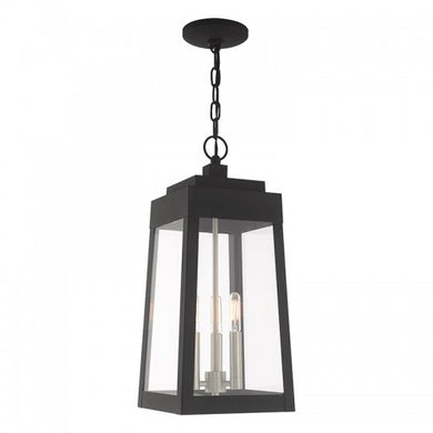 Oslo 3 Light Black Pendant Lantern, Lighting, Laura of Pembroke
