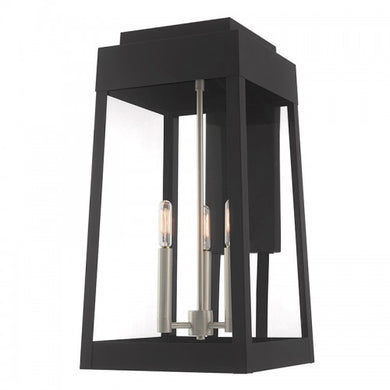 Oslo 3 Light Black Wall Lantern, Lighting, Laura of Pembroke