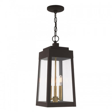 Oslo 3 Light Bronze Pendant Lantern, Lighting, Laura of Pembroke