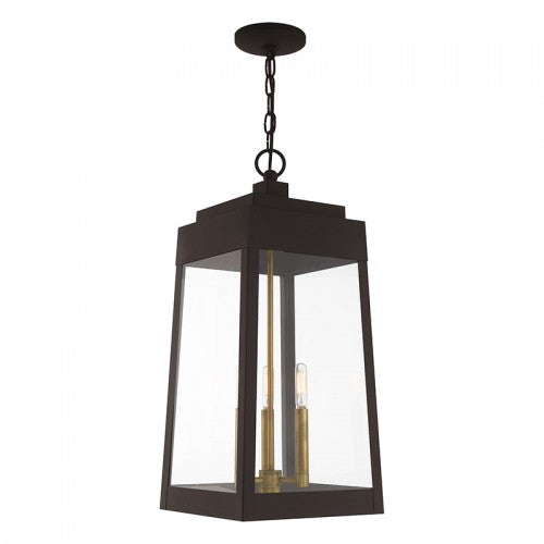 Oslo 3 Light Bronze Pendant Lantern