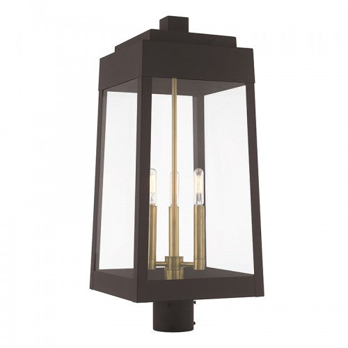Oslo 3 Light Bronze Post Top Lantern