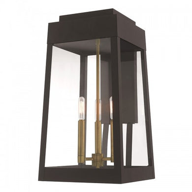 Oslo 3 Light Bronze Wall Lantern, Lighting, Laura of Pembroke