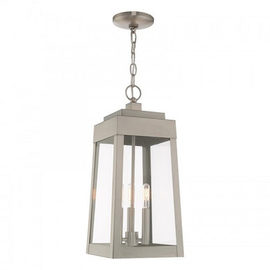 Oslo 3 Light Brushed Nickel Pendant Lantern, Lighting, Laura of Pembroke