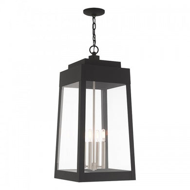 Oslo 4 Light Black Pendant Lantern, Lighting, Laura of Pembroke
