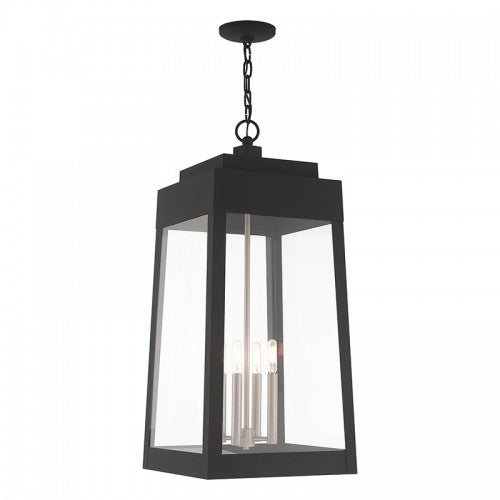 Oslo 4 Light Black Pendant Lantern
