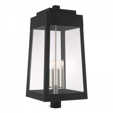 Oslo 4 Light Black Post Top Lantern, Lighting, Laura of Pembroke