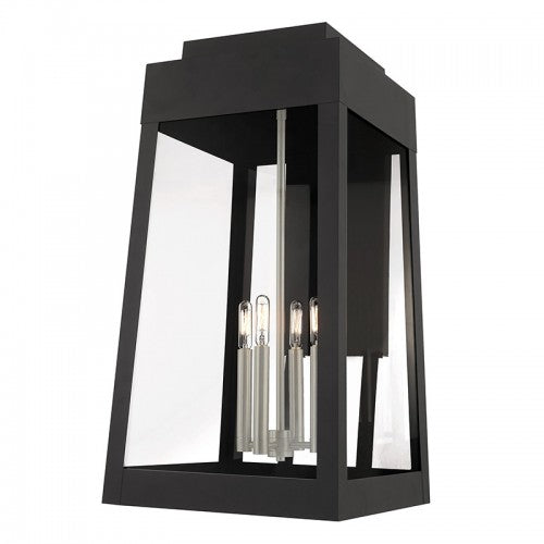 Oslo 4 Light Black Wall Lantern