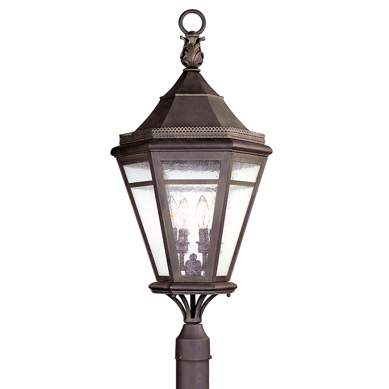 Morgan Hill Natural Rust Outdoor 4 Light Post Fixtures