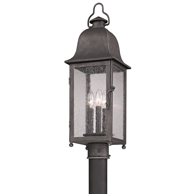 Outdoor Larchmont Aged Pewter Post Mount