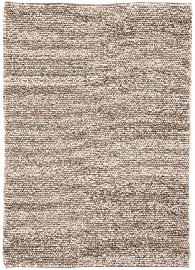 Hand Woven Feather Gray/Goat Rug, 7'10