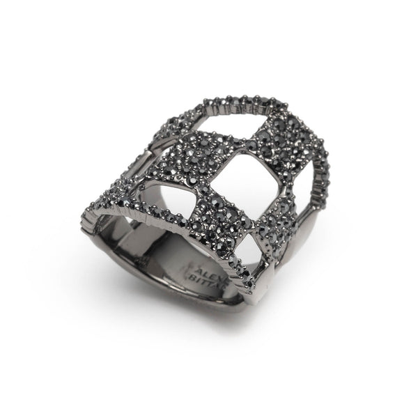 Pave Checkerboard Ring