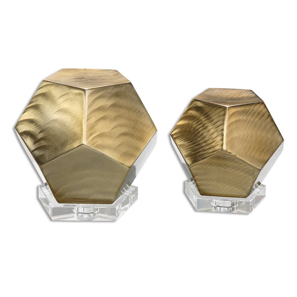 Gold Pentagon Cubes, Home Accessories, Laura of Pembroke