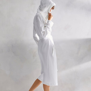 White Pique Hooded Robes