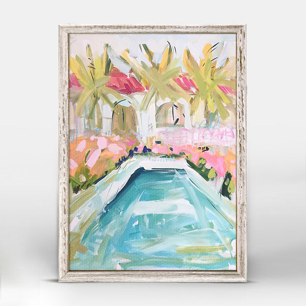 Poolside Cabanas Mini Framed Canvas