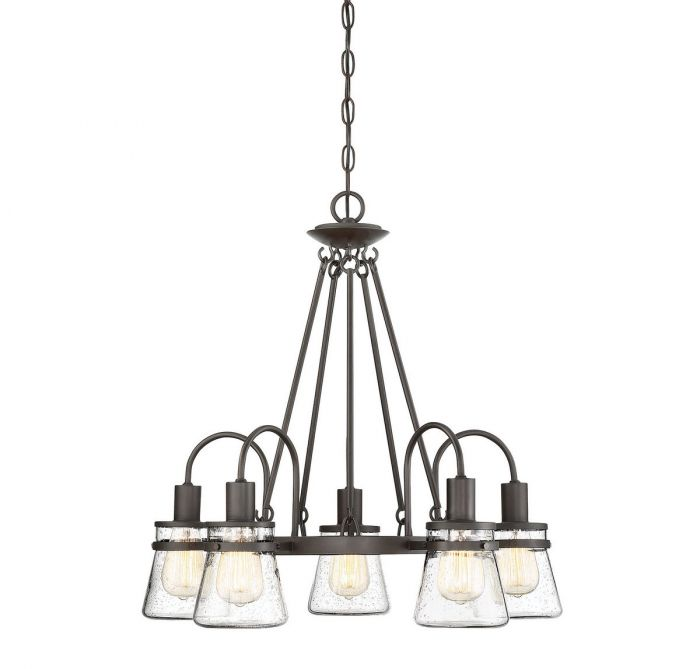 Portsmouth 5 Light Outdoor Chandelier