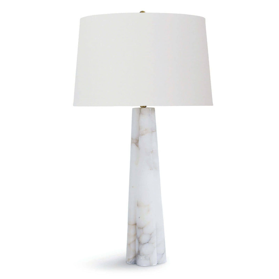 Quatrefoil Alabaster Table Lamp