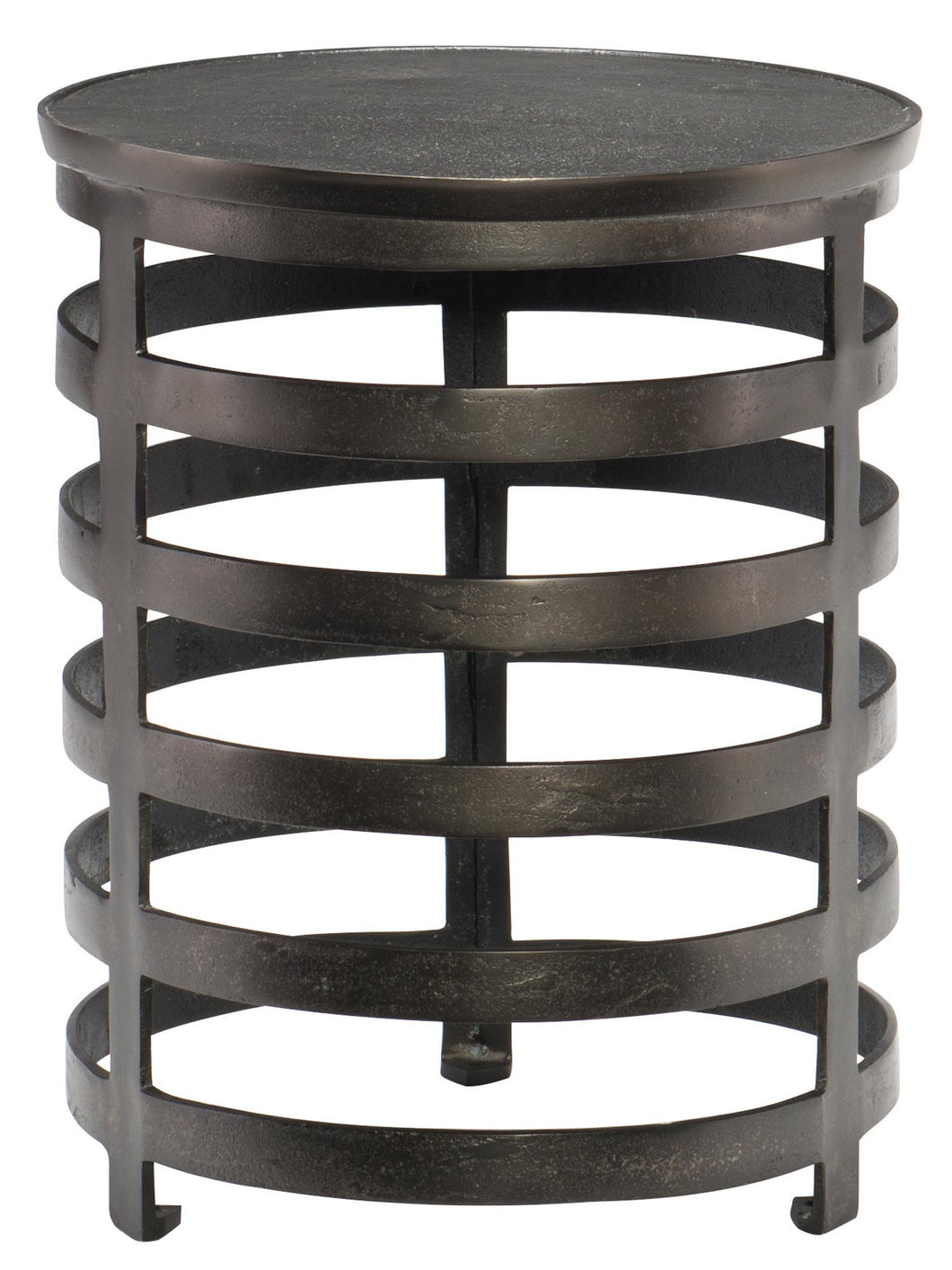 Round Black Nickel Cast Aluminum Chairside Table, Home Furnishings, Laura of Pembroke