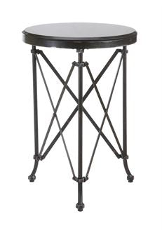 Round Table with Black Marble Top