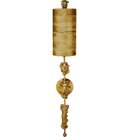 Gold Leaf Sconce, Lighting, Laura of Pembroke