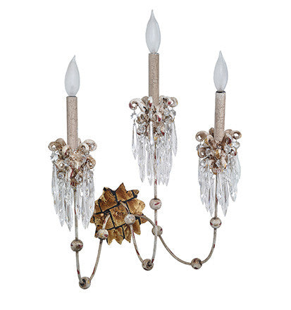 3 Arm Sconce, Lighting, Laura of Pembroke