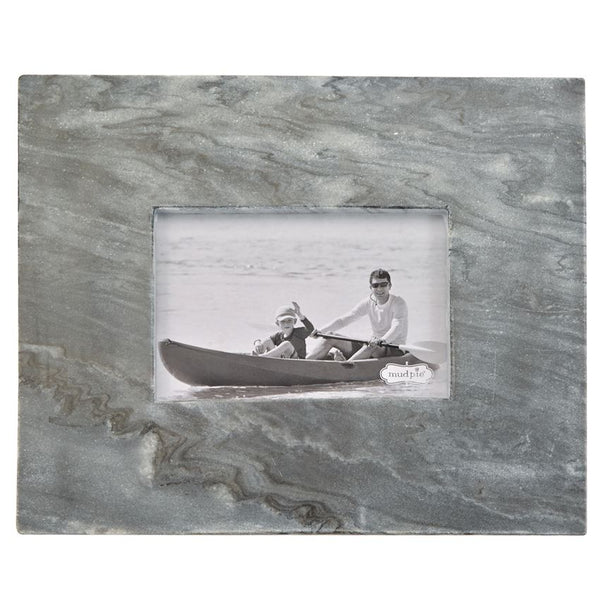 SMALL GRAY MARBLE RAW EDGE FRAME