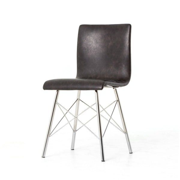 Rubbed Black Dining Chair