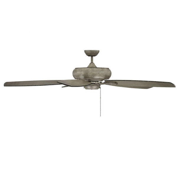 Salon Wind Star 68-inch 5 Blade Aged Wood Ceiling Fan