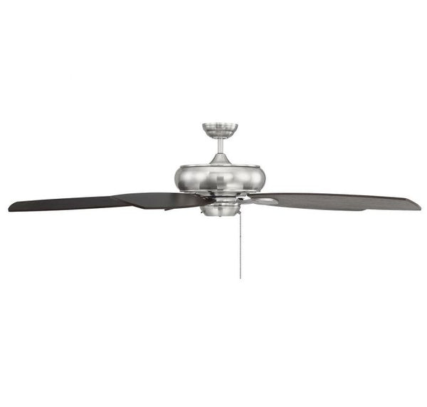 Salon Wind Star 68-inch 5 Blade Brushed Pewter Ceiling Fan