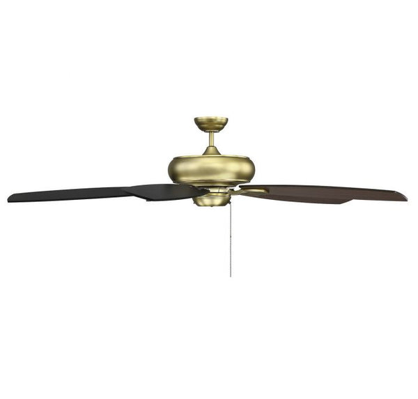 Salon Wind Star 68-inch 5 Blade Estate Brass Ceiling Fan