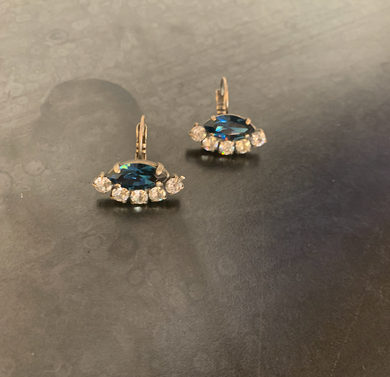 Sapphire Swarovski Crystal Earrings