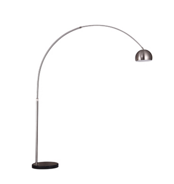 Satin Nickel One-Light Floor Lamp