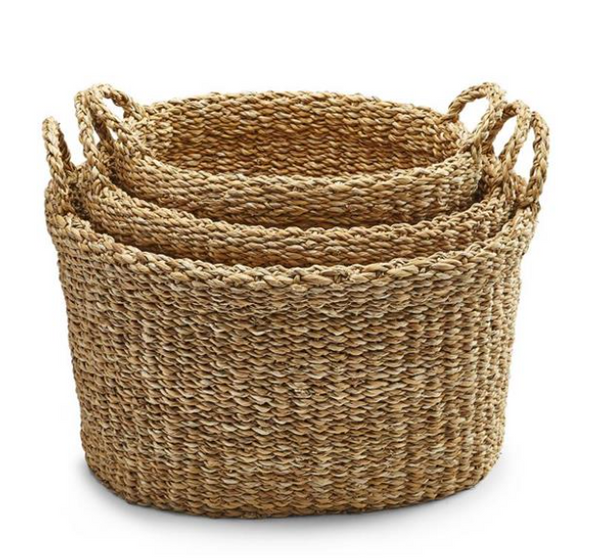 SEAGRASS BASKET OVAL